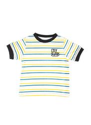 Jam Cotton Striped Ringer T-shirt for Infant Boys, 9-12 Months, Multicolor