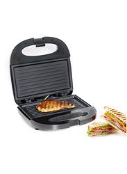 Geepas 2 Slice Grill Sandwich Maker, 700W, GGM6001, Grey/Black