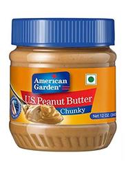 American Garden Peanut Butter Chunky, 340g
