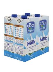 Nadec Full Fat Long Life Milk, 4 x 1 Litre