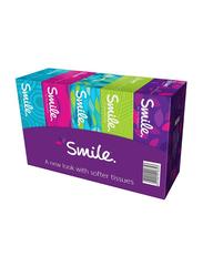 Smile Facial Tissue, 5 Boxes x 150 Sheets x 2 Ply
