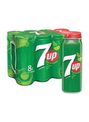 7up Regular Soft Drink Can, 8 x 295ml
