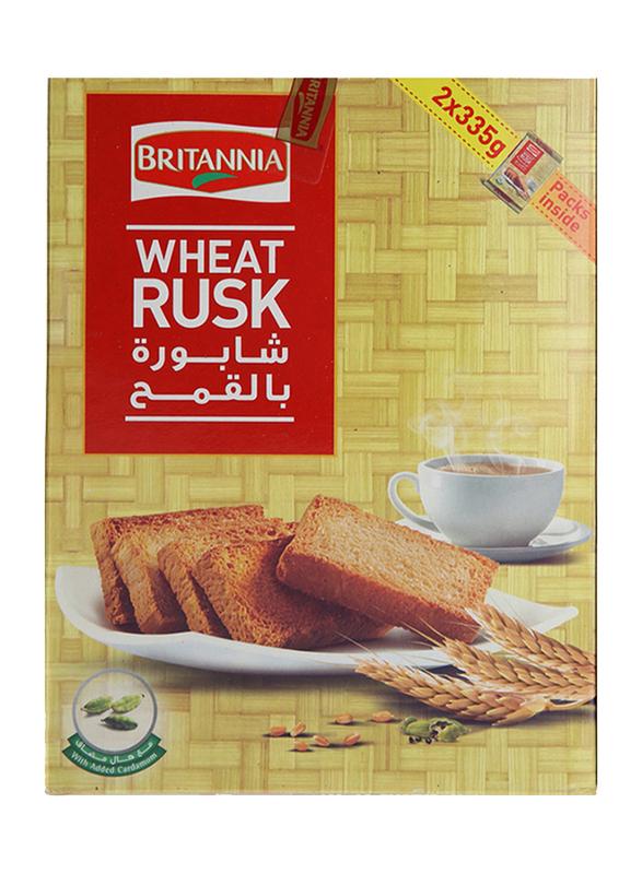Britannia Wheat Rusk, 2 x 335g