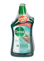 Dettol Pine 3X Antibacterial Power Floor Cleaner, 2 Bottles x 900ml
