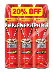 Pif Paf All Insect Killer Spray, 3 x 300ml