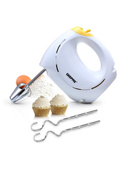 Geepas Hand Mixer, 7 Speed with Turbo, 150W, GHM43012, White