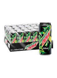 Mountain Dew Soft Drink Can, 24 x 330ml