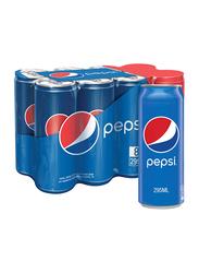 Pepsi Regular Soft Drink Can, 8 x 295ml