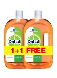 Dettol Antiseptic Disinfectant, 2 Pieces x 1 Litres
