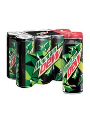 Mountain Dew Soft Drink Can, 8 x 295ml