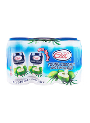 Ice Cool Young Coconut Water, 6 Cans x 310ml