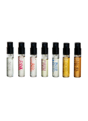 Reem Prive 7-Piece Discovery Colors Collection Unisex Perfume Set, 7 Pieces x 14ml EDP