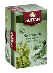 Sultan Green Tea with Mint Herbal Tea, 20 Tea Bags x 1.6g