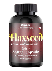 Cipzer Flaxseed Oil Dietary Supplement, 1000mg, 60 Softgel Capsules
