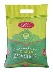 Green Farm 1121 Steam Basmati Rice in Green Bag, 3 Kg