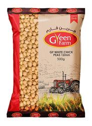 Green Farm 12mm White Chick Peas, 500g