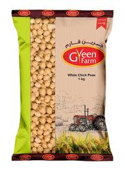 Green Farm 12mm White Chick Peas, 1 Kg