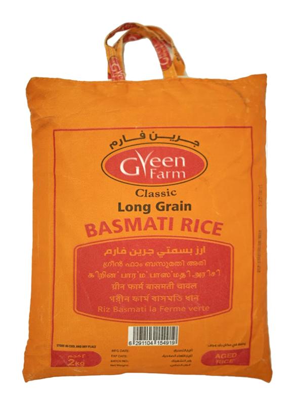 Green Farm Classic Long Grain Basmati Rice, 2 Kg