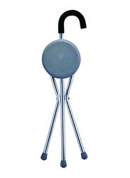 Media6 Walking Stick with Seat, 836, Silver/Blue
