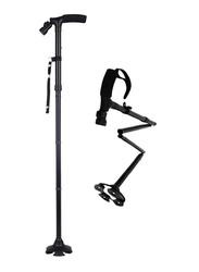 Media6 Walking Cane with LED Light, Black