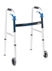 Media6 Walker with Wheels, 3920W5, White