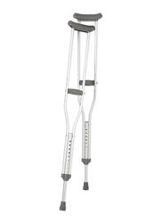 Media6 Aluminum Shoulder Axillary Crutches, Silver/Grey