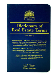 Dictionary of Real Estate Terms Sixth Edition, Paperback Book, By: Jack P. Friedman
