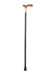 Media6 Wooden Cane with Acrylic Handle, Black