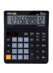 Deli EM01120 12 Digit Calculator, Black