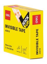Deli EA30110 Invisible Tape, Clear
