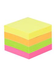 Deli EA02303 Sticky Notes, 3 x 3-inch, Neon