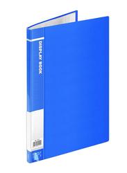 Deli E5002 Display Book, 20 Pockets, Blue