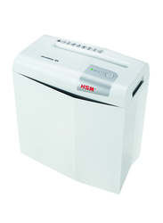 HSM Shredstar S5 Strip Cut Shredder Machine, White/Silver