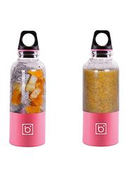 Bingo 500ml Portable USB Rechargeable Blender Juice Cup, Pink