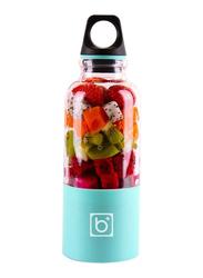 Bingo 500ml Portable USB Rechargeable Blender Juice Cup, Blue