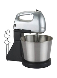 Cyber Hand Mixer with Bowl, 100W, CYHM-3343, Silver/Black
