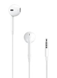 Apple EarPods 3.5mm Jack In-Ear Headphones with Mic, White