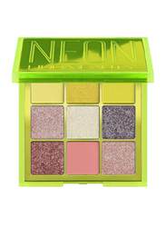Huda Beauty Neon 9-Shades Obsessions Eyeshadow Palette, Multicolor
