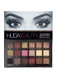 Huda Beauty 18 Colour Textured Eyeshadow Palette, Rose Gold Edition, Multicolor