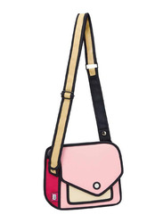 Jump From Paper 6.3-Inch Giggle Shoulder Bag for Women, Pink