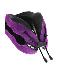 Cabeau Evolution Cool Air Circulating Head and Neck Memory Foam Cooling Travel Pillow, Purple