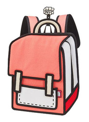Jump From Paper 10.5-Inch Junior Spaceman Backpack Bag for Women, Watermelon Red