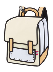 Jump From Paper 13-Inch Spaceman Backpack Bag for Women, Brown Rice