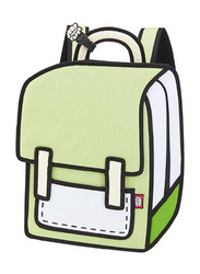 Jump From Paper 13-Inch Spaceman Backpack Bag for Women, Greenery