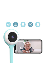 Lollipop Video Baby Monitor with Infrared Night Vision, LED 2.4GHz Wireless Transmission, Two-Way Talk, Temperature Sensor, Turquoise