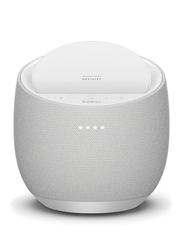 Belkin SoundForm Elite Hi-Fi Smart Portable Bluetooth Speaker, with 10W Wireless Charger, White