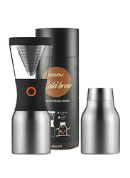 Asobu Cold Brew Insulated Portable Brewer Coffee Maker, ASB-KB900, Silver