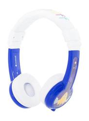 BuddyPhones Explore Foldable 3.5mm Jack On-Ear Headphones with Mic, Blue