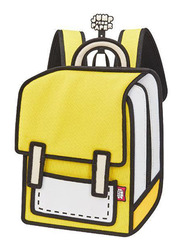 Jump From Paper 10.5-Inch Junior Spaceman Backpack Bag for Women, Minion Yellow