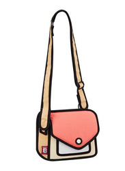 Jump From Paper 6.3-Inch Junior Giggle Shoulder Bag for Women, Watermelon Red